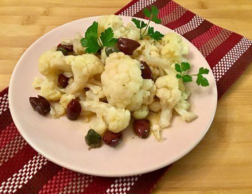 Ricetta cavolfiore olive e capperi in vasocottura