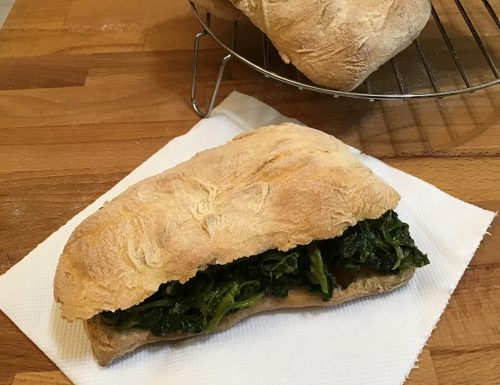 Ciabatta di pane croccante fatta in casa