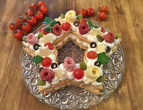 Cream Tart salata stella di natale