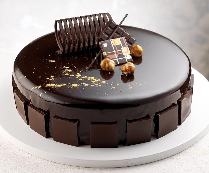 Glassa cioccolato a specchio il granello di pepe - Decorazioni torte con glassa ...