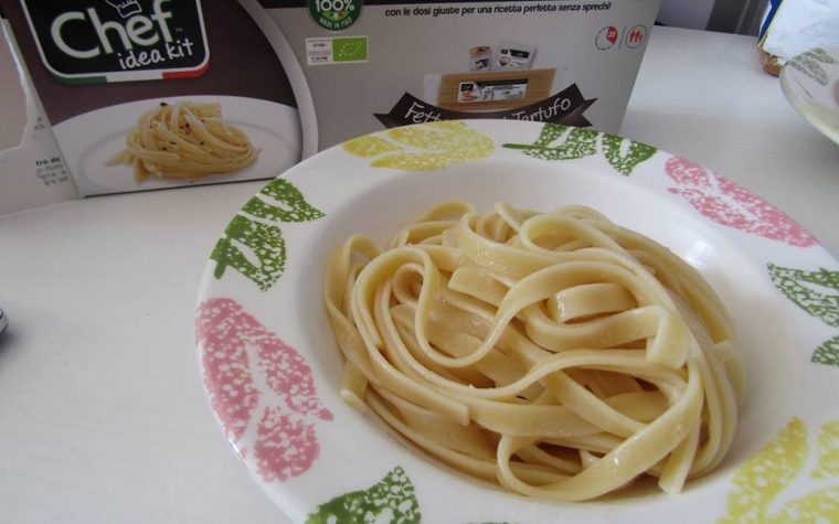 Fettuccine al tartufo i piatti pronti di Chef idea Kit