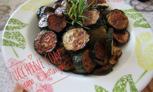 Zucchine con origano e bottarga