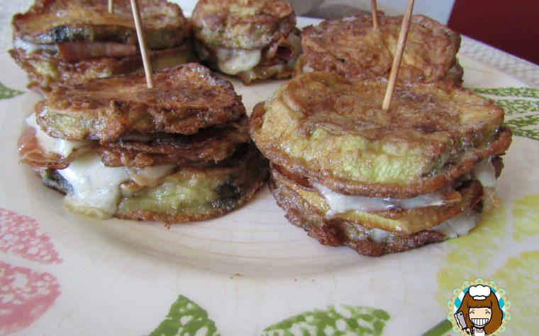 Sandwich di melanzana con speck e provola golosi e saporiti