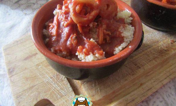 Cous cous alla marinara al peperoncino di Soverato