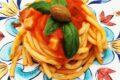 Bucatini Monte Arci con pancetta affumicata e olive verdi sarde