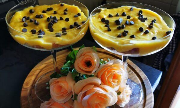Torta margherita in calice con crema pasticcera Arpa Lieviti