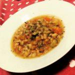 Spezzatino di soia con verdurine baby