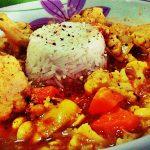 Curry di cavolfiore con basmati allo zenzero