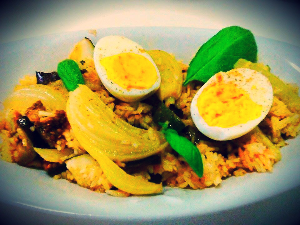 Kedgeree vegetariano con curry & basmati