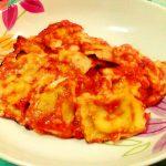 Ravioli di ricotta e spinaci gratinati al forno
