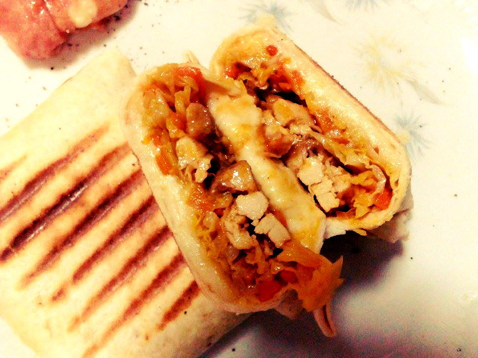 Burritos con pollo e verdure Tex-Mex