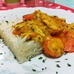 Riso al curry con carote (Facile e veloce!)