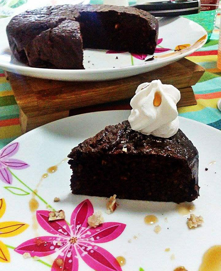 Brownie di castagne e cioccolato