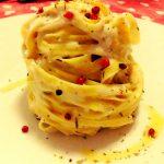 Fettuccine in salsa provenzale al limone