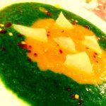 Vellutata due colori con spinaci e carote