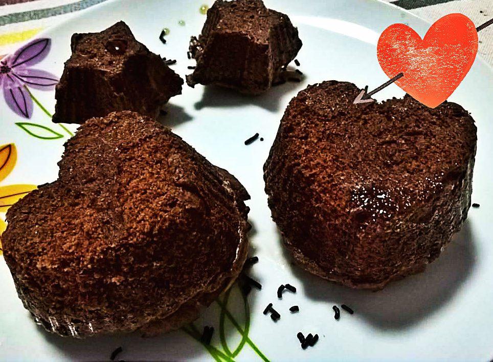 Cuori di Brownies al Marshmallow