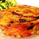Medaglioni di patate, verdure e formaggio