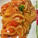 Linguine in salsa di salmone affumicato