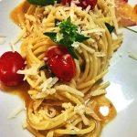 Spaghetti risottati in salsa deliziosa