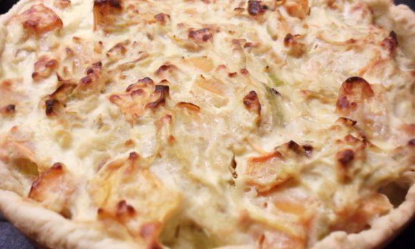 Torta salata porri e zucca