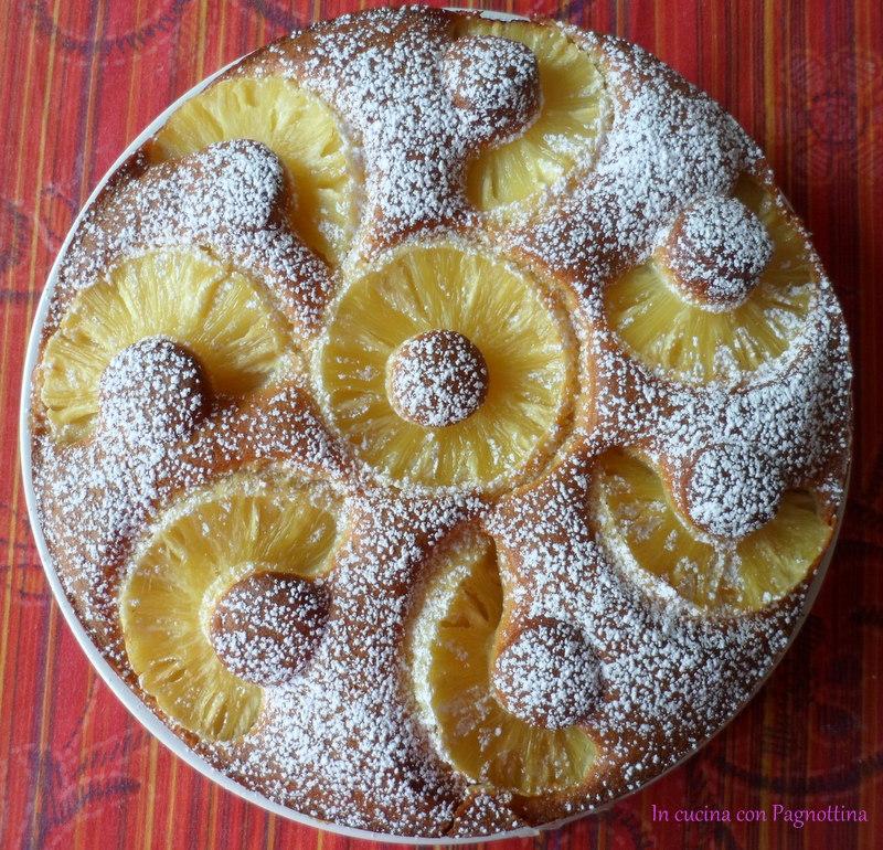 Torta con ananas fresco bimby