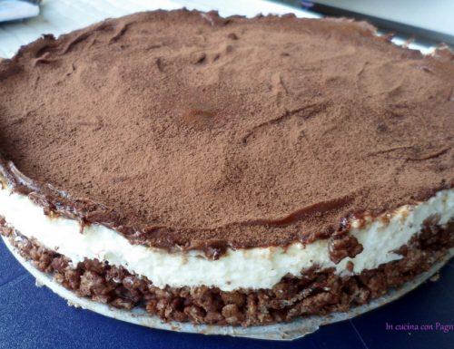 Torta fredda con nutella e riso soffiato