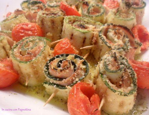 Involtini di zucchine alla pizzaiola