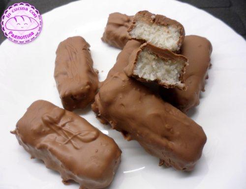 Barrette cioccolato e cocco