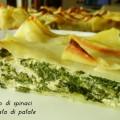 Tortino di spinaci in crosta di patate
