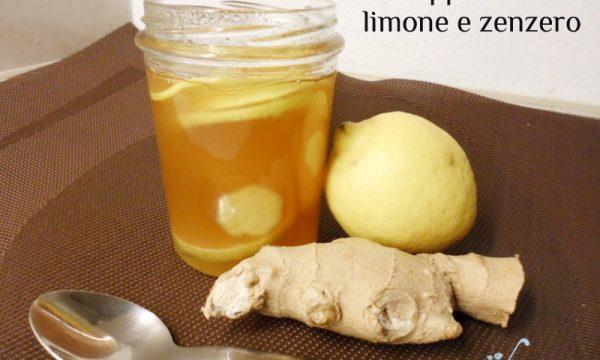 Sciroppo miele, zenzero e limone