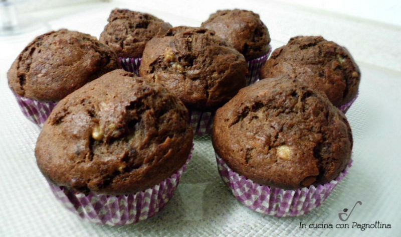 Muffin ciocco-banana (senza burro)