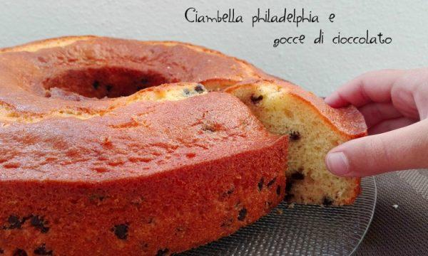 Ciambella philadelphia e gocce di cioccolato
