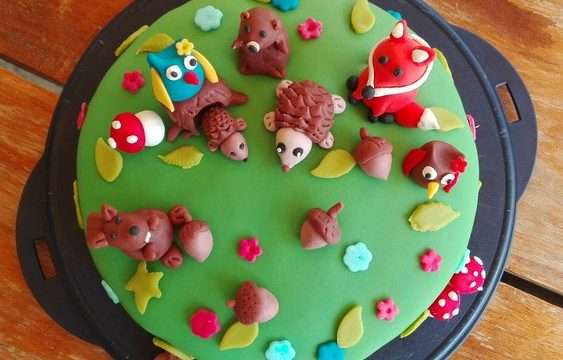 Torta tema bosco in pdz