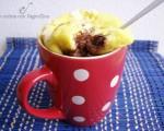 Mug cake con cuore morbido alla nutella