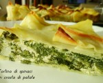 Tortino di spinaci in crosta di patate