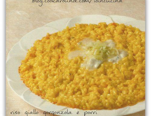 risotto giallo gorgonzola e porri