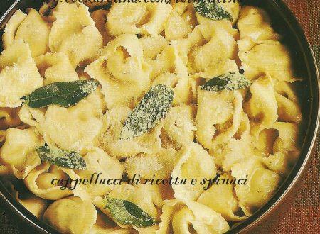 cappellacci di ricotta e spinaci