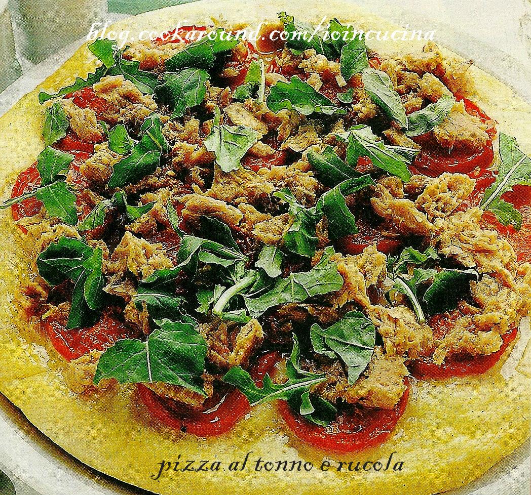 pizza con tonno e rucola