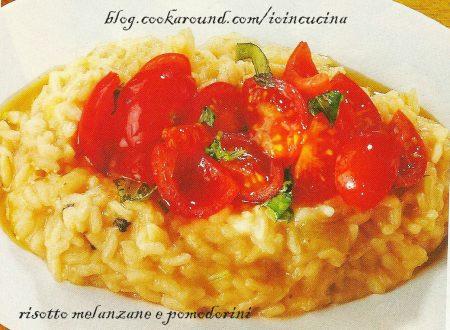 risotto melanzane e pomodorini