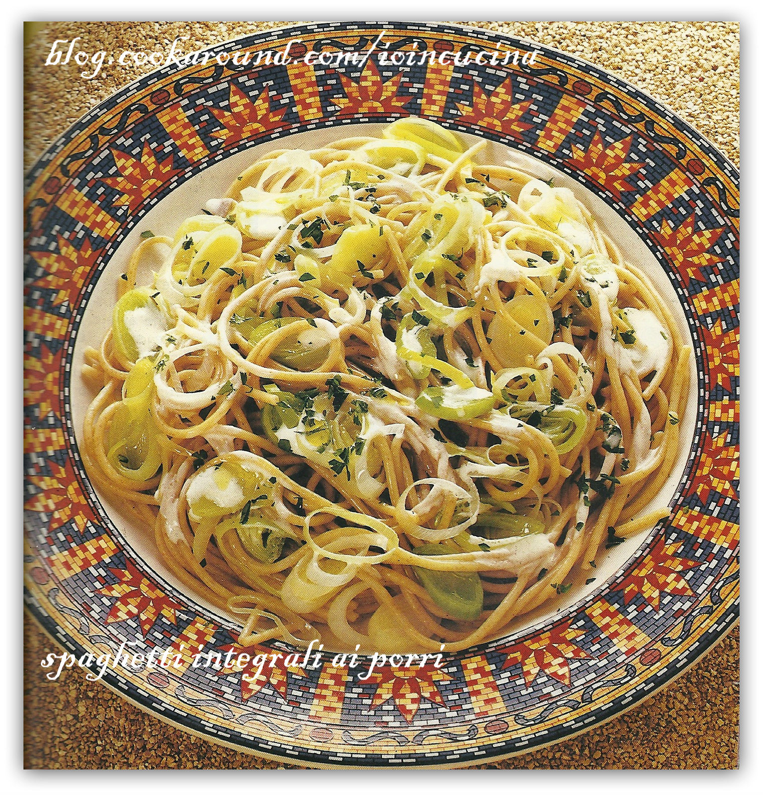 spaghetti integrali ai porri