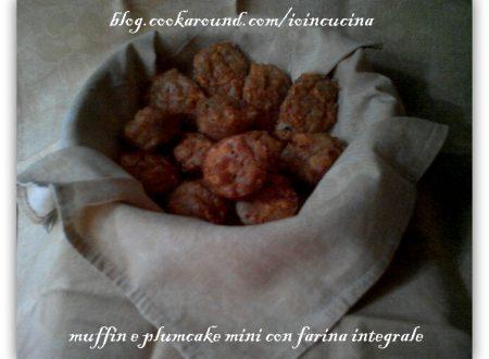 muffin e plumcake mini con farina integrale