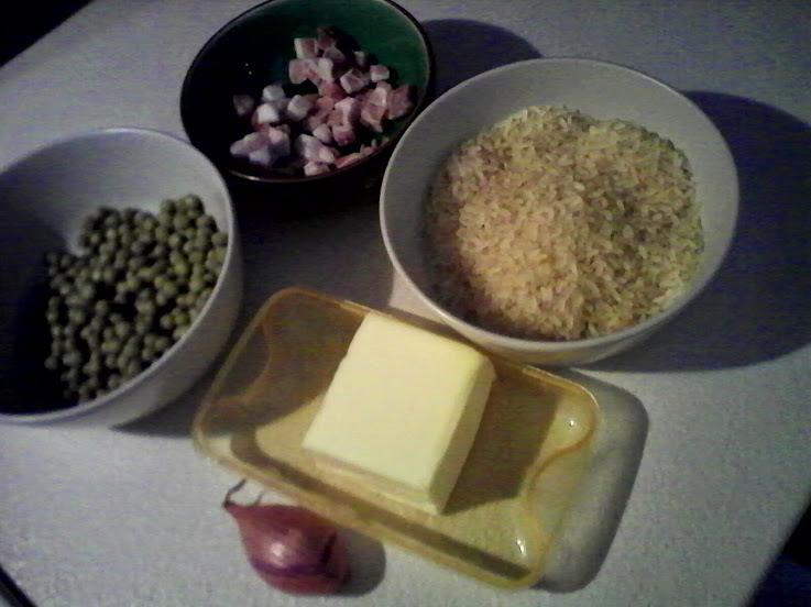 risotto piselli e pancetta 1