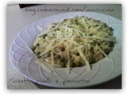 risotto piselli e pancetta