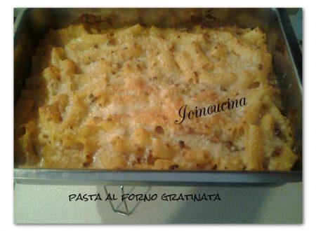 Pasta al forno gratinata
