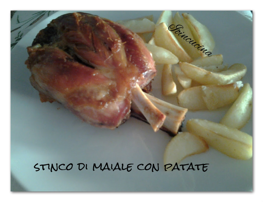 stinco di maiale con patate