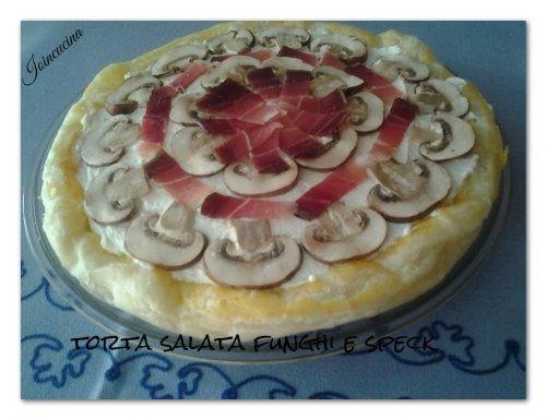 Torta salata funghi speck e formaggio