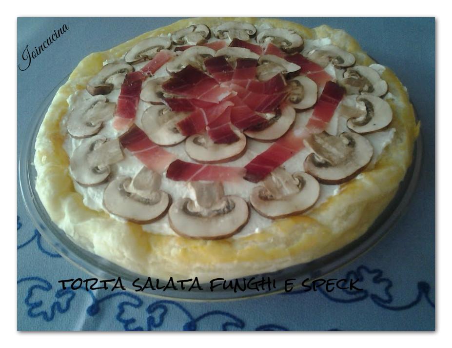 torta salata funghi e speck