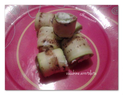 Zucchine arrotolate con speck e formaggio
