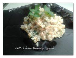 risotto salmone fresco e prezzemolo