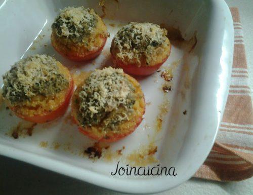 Pomodori ripieni di ricotta gratinati al forno